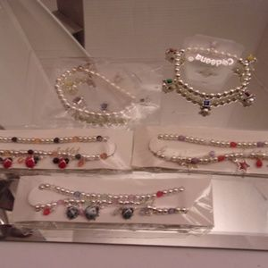 Jewelry - NWTS UNIQUE 3 LADY BUG & STARS ANKLETS & 2 BRACELE